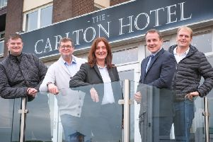 Pictured at the Carlton Hotel, St Annes are, left to right  James and Steve Smith with Colette Barrett from NatWest, Vincents Solicitors Craig Aikman and Roger Banks
