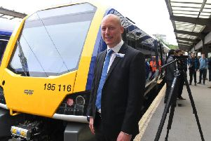Chris Jackson of Northern with one of the new trains