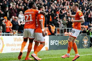 Feeney's goal against Fleetwood on Saturday was his first for Blackpool