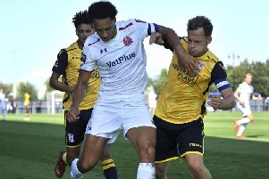 Lewis Montrose was not expected to play the full 90 minutes against Sutton