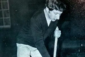 Judge Woolman, pictured as a student at Cambridge, playing late night croquet