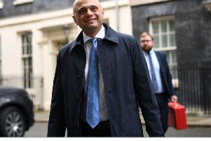 Chancellor Sajid Javid in Downing Street