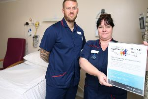 Mike Sarson director of clinical services at Spire Fylde Coast Hospital with his deputy Liz Zano, outpatients and ward matron