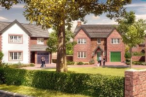 An artist's impression of what the huge new housing development on farmland off Blackpool Road, between Poulton and Carleton, could look like (Picture: Wyre Council)