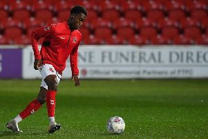 Jay Matete made his full Fleetwood debut against Accrington Stanley this month