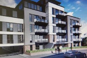 An artist's impression of the proposed flats