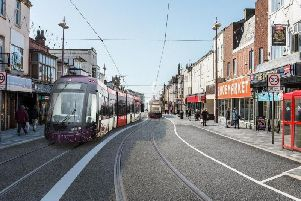 Artist's impression of the new tramway on Talbot Road