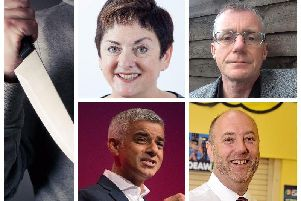Pictured above from top left, Dr Mary Bousted; Patrick Green and bottom left, Sadiq Khan and Andy Mellor.