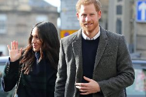 Prince Harry with fiancee Meghan Markle 'Photo: PA