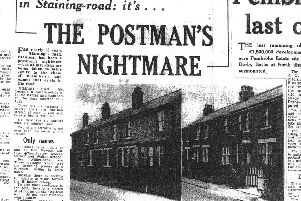 Cutting from the Gazette March 1968, about how Staining Road was a nightmare for the postman with strange house numbers