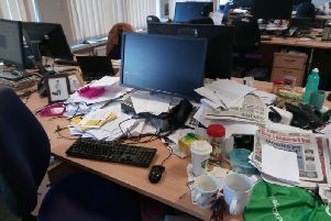 Aasma Day's messy desk (in one of its tidier moments)