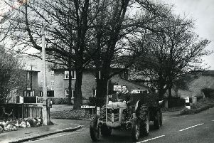 Station Road, Wrea Green, in December 1965