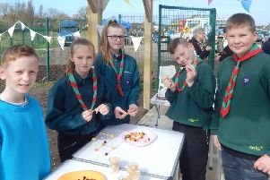 The 4th Blackpool Scout Group were delighted to be invited to the  fun open weekend  for residents of Grange Park to attend the new @TheGrange community centre.