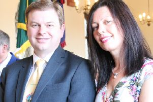 Councillor Jason Page and Mrs Joanne Page.