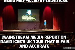 The Lancashire Post review of David Icke's talk was welcomed on his website davidicke.com