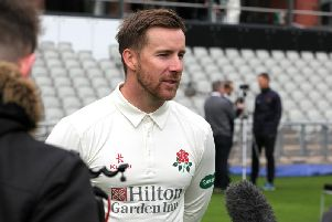 Blackpool's Lancashire all-rounder Steven Croft