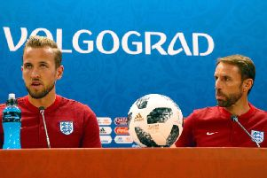 Manager Gareth Southgate and captain Harry Kane speak to the media for the final time ahead of England's game against Tunisia