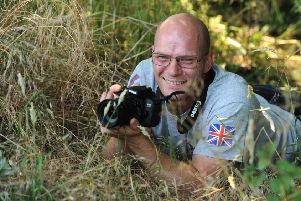 Photo Neil Cross'James Collier, 43, who had undiagnosed PTSD for over 20 years, realised he needed help and approached Combat Stress who helped him focus on photography. 'With the help of HELP THE HEROES they gave him the funds to buy a camera