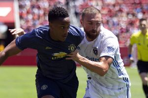 Manchester United forward Anthony Martial in action against San Jose Earthquakes