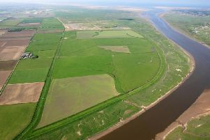 Aerial shot of Ribble Estuary