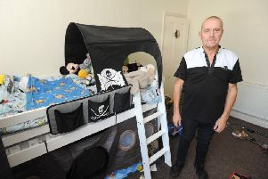 Declan Shaw was horrified to find their sons room was burgled while he was asleep.