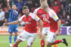 Ched Evans was on target for Town against Rochdale