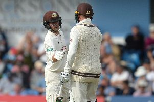 Rory Burns has helped Surrey into an increasingly promising position at The Oval