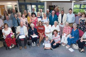 Participants in the Pictures for Health painting competition at Holland House Surgery, Freckleton