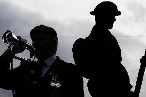 The remembrance service in Cleveleys
