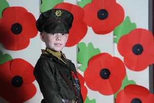 Ellis Lord, a year five pupil at Stanley Primary School, got dressed up as part of a Remembrance Day at the school