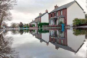 The floodwaters on Blackpool Road last November