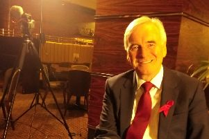 Shadow Chancellor of the Exchequer John McDonnell at Blackpool Winter Gardens