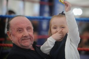 Jorgie-Rae Griffths with her dad Barry