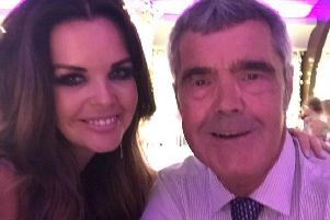 Hayley Gallagher with her father Jimmy Smith