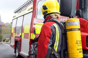 One person was taken to hospital after a kitchen fire this evening