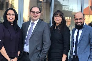 Partners in the newly-merged Parcliffe Medical Practice in St Annes, from left: Dr Aaliya Aziz,  Dr Meenakshi Varia, Dr Andrea Tumminaro and Dr Sarfaraz Adam
