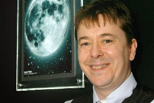 Dr Nick Lister who gave pupils at Saint Aidan's High School and insight into astronomy.