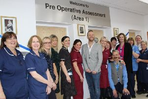 Dan Whiston opens new assessment area watched by staff at Blackpool Victoria Hospital
