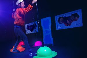 One of the new games - Spinning Planets - at the Crystal Maze Live Experience Manchester