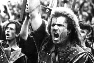 Mel Gibson as William Wallace in the film Braveheart.