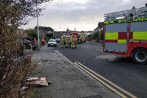 Firefighters in Warley Road
