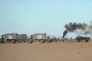 This is the reason why soldiers took over St Annes beach yesterday