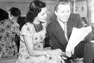 Richard Attenborough in Blackpool with Eve Boswell.