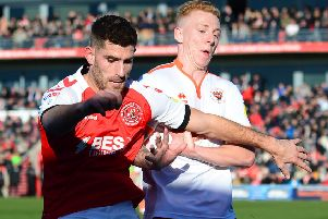 Fleetwood Town beat Blackpool in the season's first derby and Joey Barton hopes there will be a big crowd at Bloomfield Road for the second