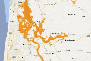 Flood alerts in place on the Fylde coast