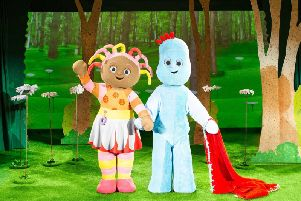 Upsy Daisy and Igglepiggle from In the Night Garden