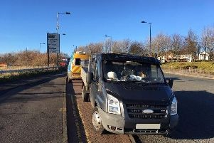 Jason Sayers parked his van in front of a speed camera