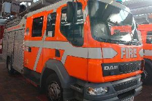 A fire started at a derelict building in Fleetwood yesterday.