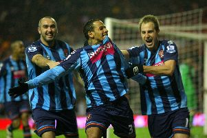 Blackpool last used the striped blue kit as their away strip during the 2010/11 Premier League campaign