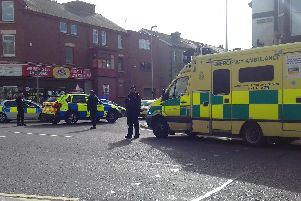 Police and ambulance services on Dickson Road and Springfield Road following the incidents
